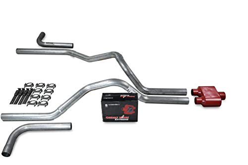 Truck Exhaust Kits - Shop Line dual exhaust system 2.5 AL pipe Cherry Bomb Extreme Side Exit
