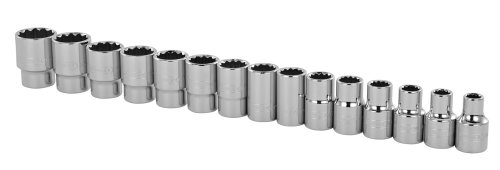 Stanley 89-339 1/2-Inch Drive 12-Point Professional Grade Metric Socket Set, 15-Piece (Set 1 Socket 2)