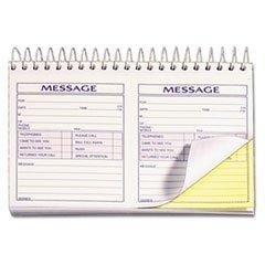** Spiralbound Message Book, 4 1/4 x 5, Carbonless Duplicate, 200 Sets/Book **