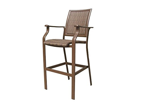 Panama Jack Outdoor Island Cove Woven Stationary Barstool, 30-Inch (Comfy Deck Chairs)