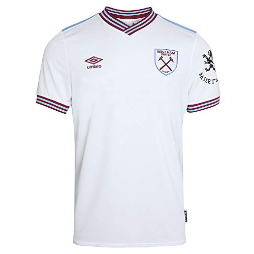 Umbro 2019-2020 West Ham Away – Camiseta de fútbol para niños, Unisex niños, blanco, XL Boys – 32-33″ Chest (164-170cm) 13 yrs