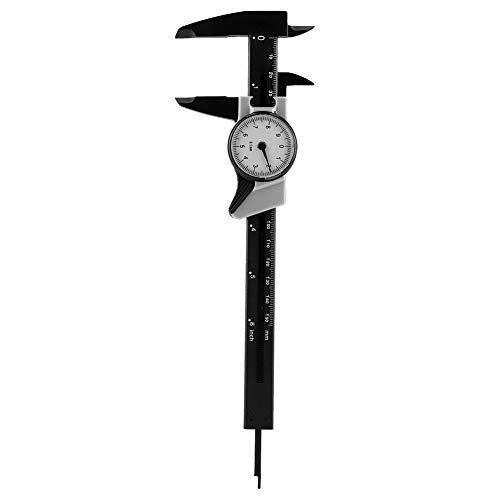 FTVOGUE Dial Caliper 0-150mm 0.1mm High Accuracy Plastic Vernier Caliper with Dial Micrometer Gauge Measuring Tool