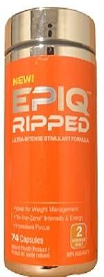 EPIQ Ripped Ultra-Intense Thermogenic Stimulant, Yohimbe Free, 72 Capsules