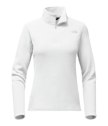 The North Face Women's Glacier 1/4 Zip - TNF White/High Rise Grey - XL (Past (1/4 Zip Color)