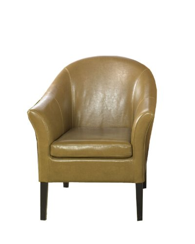 Bicast Leather Arm Dining Chairs - Armen Living 1404 Bicast Leather AKA Club Chair, Camel
