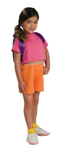 Dora the Explorer Child's Dora Costume with Backpack, -