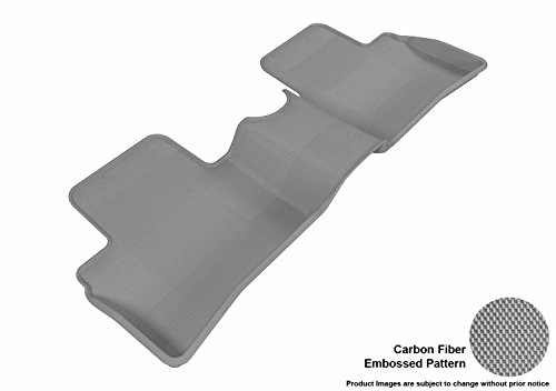 3D MAXpider Second Row Custom Fit All-Weather Floor Mat for Select Nissan Juke Models – Kagu Rubber (Gray)