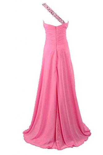 Rosa a lungo One Sweetheart Sunvary Chiffon della sera collo da vestito linea nBCPx5PWqS