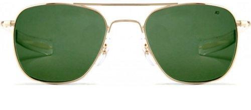 b470297076e AO Eyewear American Optical - Original Pilot Aviator Sunglasses with  Bayonet Temple and Gold Frame