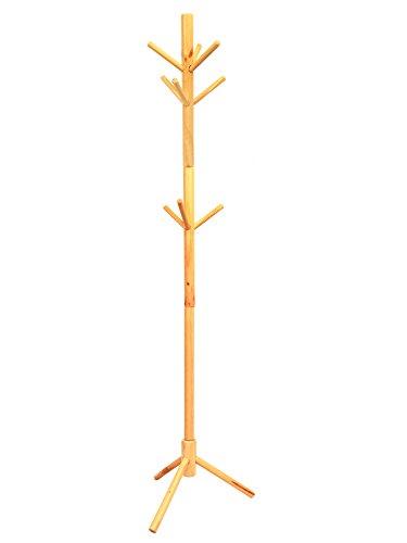 Amazon.com: Perchero de madera maciza, lacado pino sombrero ...
