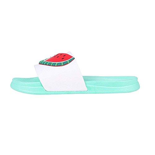 Women Fruit Beach Green Family Boy Slippers Sandals Men Girl Indoor QZBAOSHU Summer Slides watermelon Slippers Bathroom for ZSwYnP