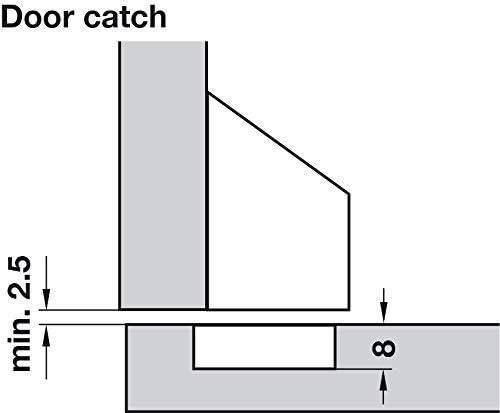plastique gris Meubles Loquet /à visser /Duomatic Push Porte gedotec/® Meubles ferrures de pression Loqueteau/