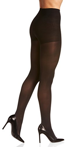 Berkshire Women's Plus Size The Easy On Get Skinny Shaping Tights, black, 3X-4X