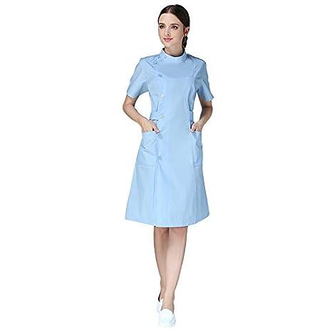 Xuanku Enfermera Invierno Bata Blanca De La Enfermera Médico ...
