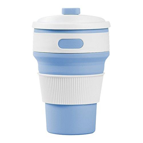 Collapsible Cup, AccMart Reusable Folding Mug Travel Cup Blu