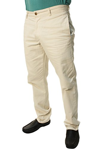 Chaps Custom (Chaps Men's Custom Fit Khaki Pants-38 X 32 Stone)