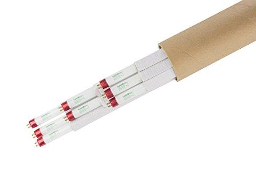 Lightingwise 2 FT 3000K T5 HO Fluorescent Grow Light Bulbs - Pack of 1,4,8,20,40 (8, 3000k - red - Bloom) (Best T5 Bulbs For Flowering)