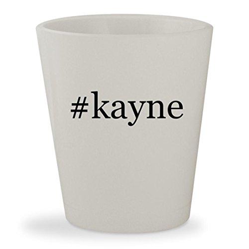 #kayne - White Hashtag Ceramic 1.5oz Shot - Kayne West Glasses