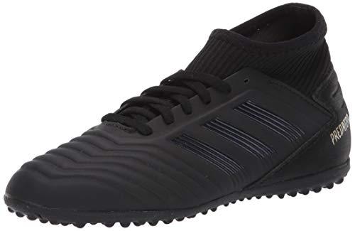 adidas Unisex Predator 19.3 Turf Soccer Shoe, Black/Gold Metallic, 2 M US Little Kid (Predator Ii)