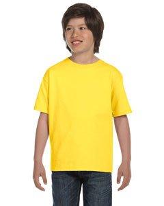 - Hanes Boys' TAGLESS®, ComfortSoft®, Crewneck T-Shirt,Medium, Yellow
