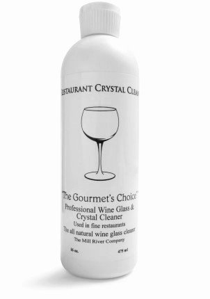 Restaurant Crystal Clean: Professional Wine Glass Cleaner and Crystal Cleaning Liquid -16 oz.