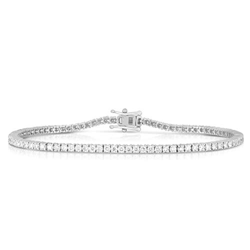 Femme Luxe 3.00 Carats Lab-Grown Diamond Tennis Bracelet for Women, 14K Yellow or White Gold, Diamond Color: E-F, Clarity: VS1-VS2, Hypoallergenic, Giftable Jewelry