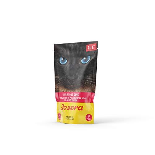 JOSERA Filet, getreidefreies Katzenfutter mit Filetstückchen, Super Premium Nassfutter für ausgewachsene Katzen in 6…