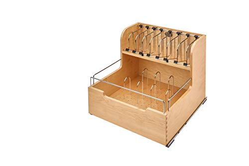 (Rev-A-Shelf Food Storage Container Organizer Soft Close, Natural)