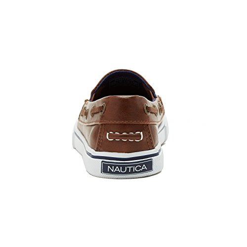 Pictures of Nautica Boy's Doubloon Slip-On Shoe Brown Tumbled Pu 2