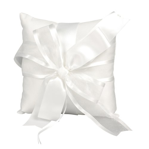 Beverly Clark Collection Infinity Collection Ring Pillow, White - Beverly Clark Ring Pillow