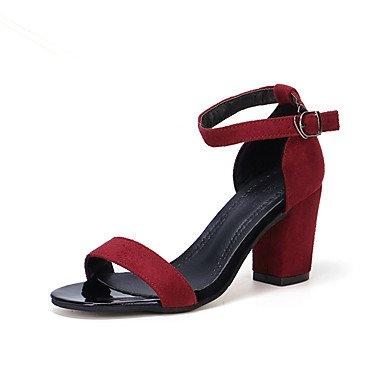 Frauen 039 s Sandalen Komfort Gummi Außenpool im Sommer Wandern Komfort Schnalle Block Heel Ruby Grau Schwarz unter 1 inRubyUS 8 EU 39 UK 6 CN 39