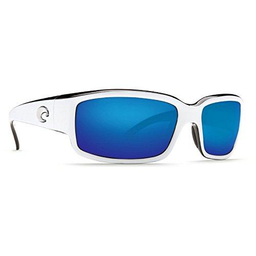 Costa Del Mar Caballito Adult Polarized Sunglasses, White/Black/Blue Mirror 400Glass, - Models Costa Mar Del