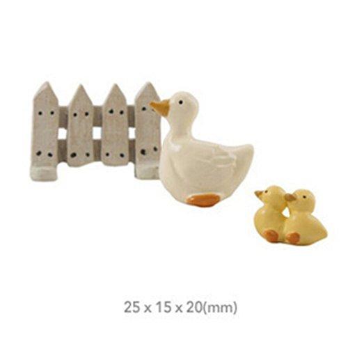 Mom Duck & Babies Duck Figurines for Pot Plant, Plant Decor