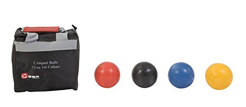 Uber Games Croquet Ball Set (Red, Yellow, Blue, Black, 12oz Composite)