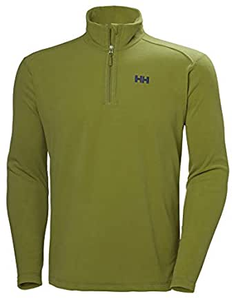 Helly Hansen Men's Daybreaker 1/2 Zip Lightweight Fleece Pullover Jacket, 407 Wood Green, Small