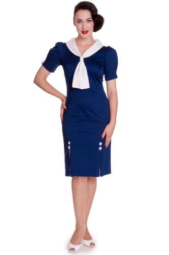 DRESS dell'abito 4332 Blu navy JACKIE Hell Bunny pq6w1A4xH