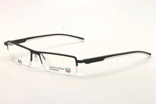 Tag Heuer Eyeglasses Men's TH0822 TH/0822 011 Black/White TagHeuer Optical - Tag Heuer Eyeglasses
