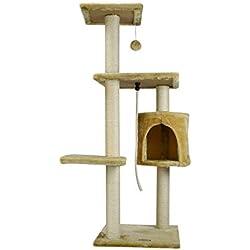 Fancypets FL8458 Mueble para Gato con Casa, 112 cm