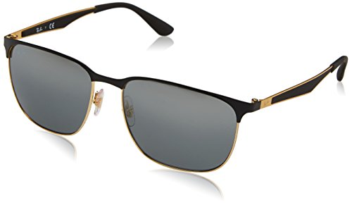Ray-Ban 0rb3569187/8859unisex Metal Non-Polarized Iridium Square Sunglasses, Gold Top Black, 59 - And Gold Bans Ray Black