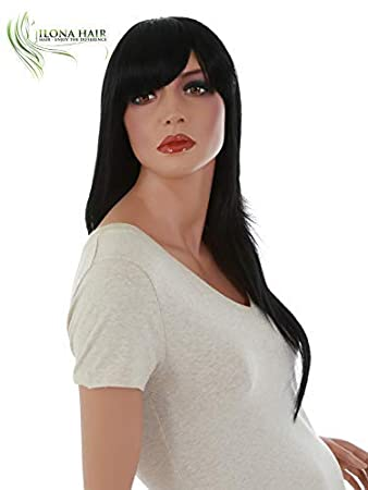 Long Wig With Bang Straight Hair For White and Black Woman Stella 2 Heat Friendly 16