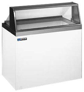 Master-Bilt DD-66L Ice Cream Low Glass Dipping/Display Cabinet with (12) Three Gallon Tub Display & (8) Three Gallon Storage Capacity
