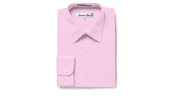 GIOVANNI UOMO camisa de vestir de color sólido para hombre ...