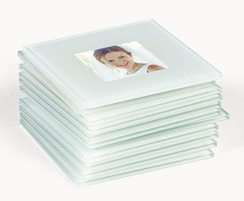 Glass Photo Coasters (1 Dozen) - DIY Picture - Frames Glasses For Pictures Of