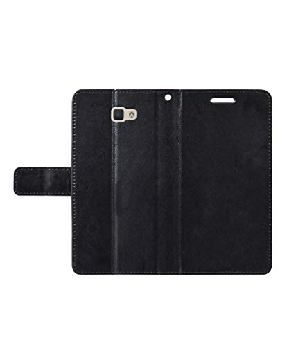 covernew vintage leather Flip Cover for samsung j7 prime   sm g610fzkdins   venom black