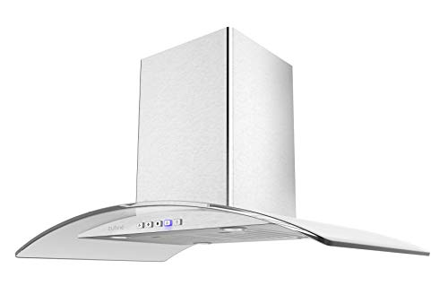 ZUHNE Island Mount Range Hood (36-Inch Ducted or Ductless)
