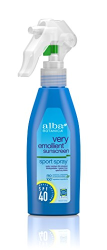 Alba Botanica Very Emollient, Sport Spray Sunscreen SPF 40, 4 Ounce by Alba Botanica