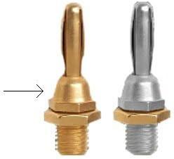 AudioQuest 1002//G 4-Pack Gold Banana Plugs