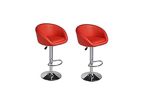 Luca coppia di sgabelli da bar colore: rosso: amazon.it: casa e cucina