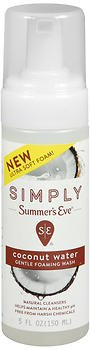Simply Summer's Eve Gentle Foaming Wash Coconut Water - 5 oz, Pack of 3