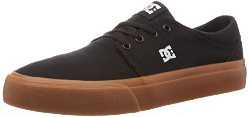 DC Men's Trase TX Skate Shoe, Black/Gum, 10.5 M US